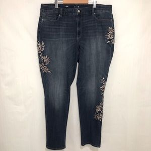 WHBM | Jeans Slim Fit Embroidery sz 22W